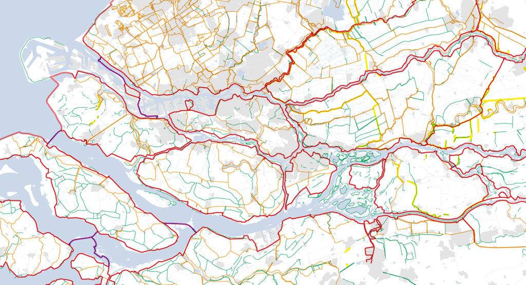 Dike Map Dutch Dikes - Netherlands rivers map