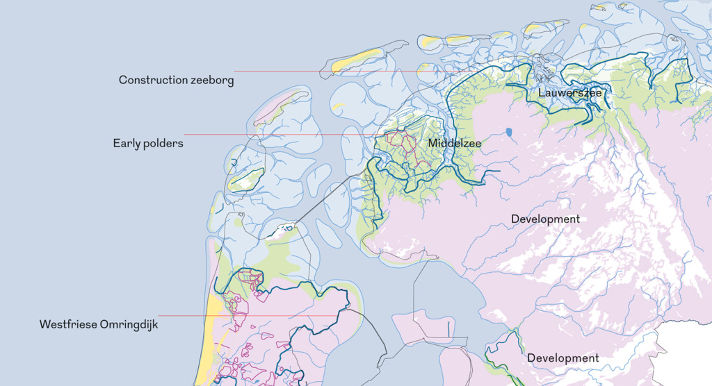 History dutch dikes map of the dikes period 700 1200 northern netherlands gumiabroncs Choice Image